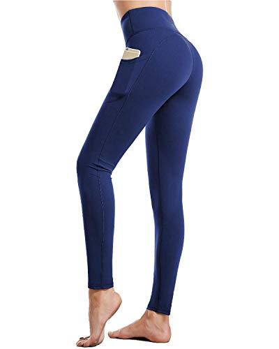 CAMBIVO yogabroek, leggings voor dames, hardloopbroek, sportbroek tights met zakken, hoge taille, ondoorzichtig voor sport, fitness, yoga, training