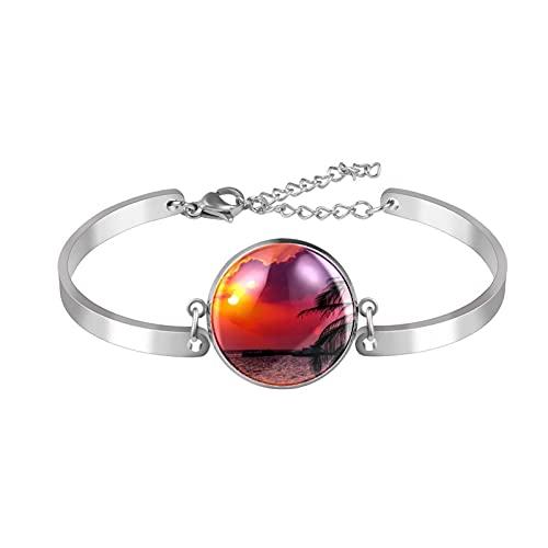 Vrouwen Meisjes Gift, De Melkweg Galaxy Armband Charm Armband voor Families Vrienden, The diameter of the circular area is 20mm,