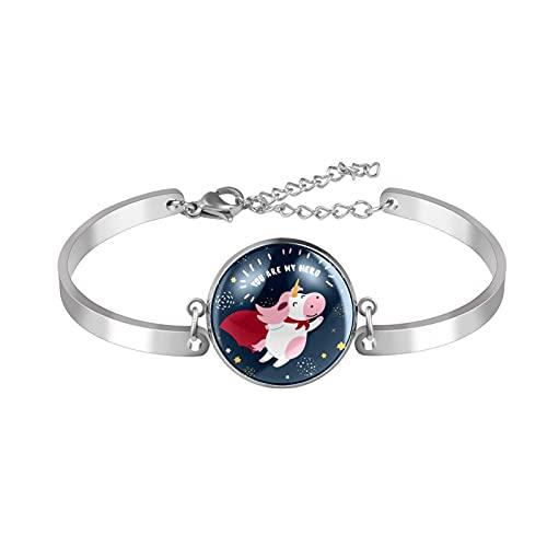 Leuke hoofden van katten roze armband verstelbaar, verjaardag sieraden cadeau voor vrouwen, The diameter of the circular area is 20mm,