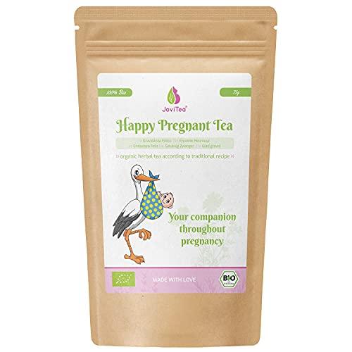 JoviTea® Gelukkig Zwanger The + Traditioneel recept + Zwangerschapsthee + geschikt tijdens zwangerschap + 100% natuurlijk en zonder toegevoegde suiker - 75g