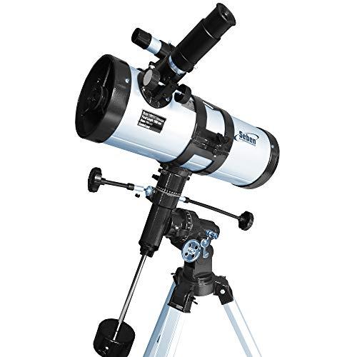 Seben 114/1000 EQ-3 Star Sheriff - reflecterende telescoop voor de astronomie incl. parallactic mount en Big Pack accessoires