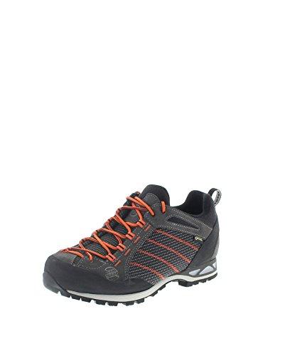 Hanwag Heren Makra Low GTX klimschoenen, asfalt oranje, 41.5 EU