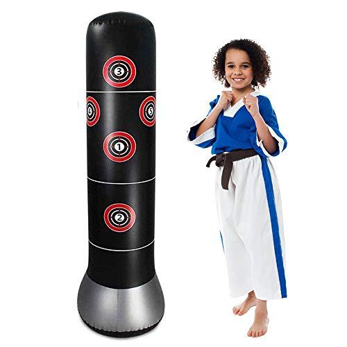 JanTeelGO bokszak voor kinderen, 160 cm, staande bokszak voor direct terugvallen voor het oefenen van karate, taekwondo en voor het ontlasten van pent up energie bij kinderen