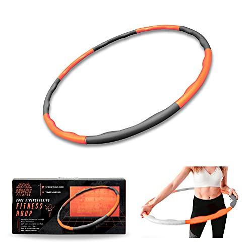 Phoenix Fitness RY1008 Hoelabanden voor gewichtsvermindering, fitnessbanden met schuimrubberen gewichten, hoelahoep-banden, geschikt voor buikvorming, zwart