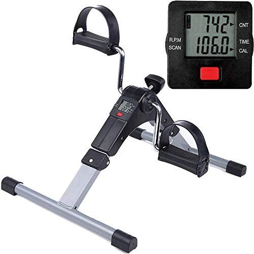 Himaly Mini hometrainer bewegingstrainer pedaaltrainer trainingsapparaat fitnessapparaat met LCD-monitor instelbare weerstand fietstrainer fitness fiets hometrainer thuis kantoor