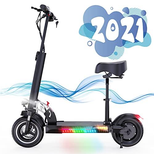 Elektrische step, e-scooter voor volwassenen 10 inch Dual 800w motoren Max. Snelheid 45km/u Opvouwbare elektrische scooter met lcd-scherm 10A Li-ionbatterij UltraLight opvouwbare e-scooter (Black) (Black)