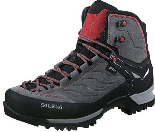 Salewa Ms Mountain Trainer Mid Gore-tex Trekking- en wandellaarzen voor heren, Charcoal Papavero, 42.5 EU