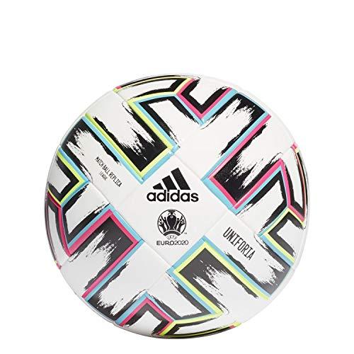 adidas FH7376 Uniforia League Box Voetbal, uniseks, wit/zwart/groen signaal/licht cyaan, 5