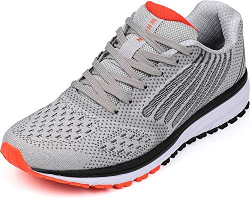 WHITIN Hardloopschoenen heren dames gymschoenen sportschoenen met 9 kleuren 36-47, lichtgrijs, 42 EU