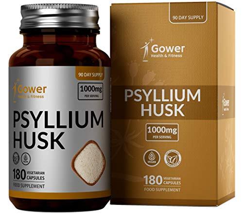 GH Psyllium Husk Capsules 1000mg per Portie   180 Veganistische Capsules   Vezelrijk Supplement   Vervaardigd in ISO Gecertificeerde Faciliteiten   GMO-vrij, Zuivel- en Glutenvrij