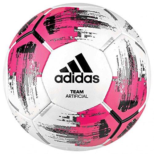 adidas Voetbal Team Kunststof, Roze (Wit / Shock Pink / Zwart / Zilver Metallic), 5, DM5597